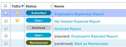 New ToDo column, simplified report states