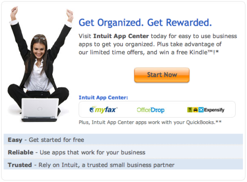 Expensify is a partner in Intuit's Get Organized. Get Rewarded promotion