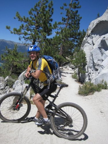 Mountain Biking the Flume Trail in Lake Tahoe