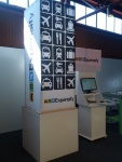 Expensify's rockin' booth at the Evernote TrunkConference
