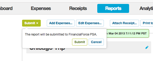 Submit to FinancialForce