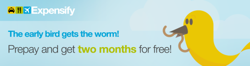 Prepay for Expensify and get TWO MONTHS for free!