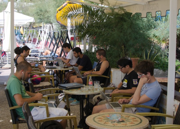 Working at Pizzeria Karaka, Split