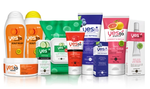 A sample of Yes To's natural products