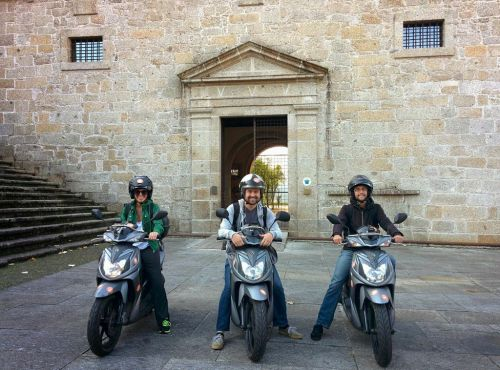 Some of us took a scooter from Lisbon to Amares and back to Lisbon