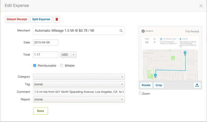 Automatic - Expensify mileage tracking screenshare