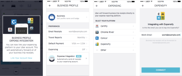 Expensify Uber Business Profiles