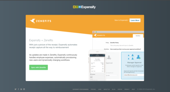 Expensify and Zenefits HR/Expense integration module