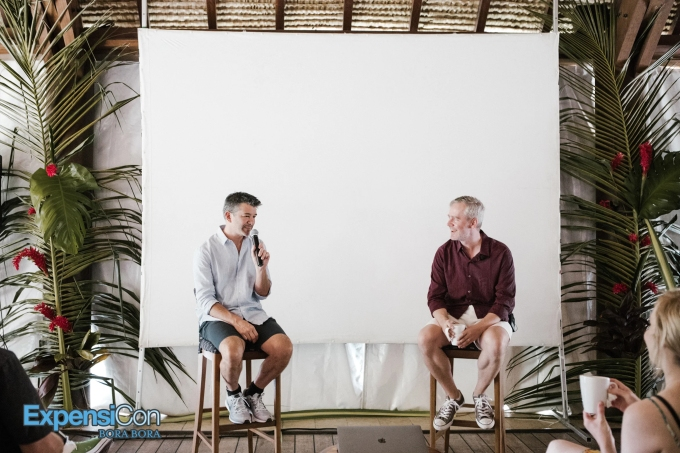 David Barrett and Travis Kalanick Keynote Speaker, ExpensiCon II Bora Bora